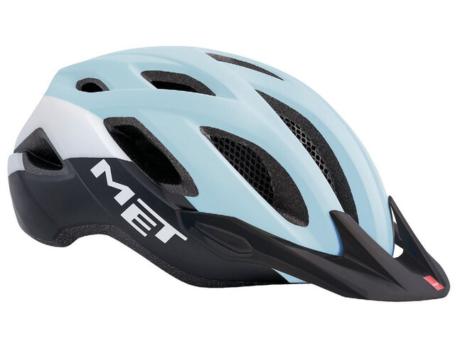 MET Crossover Helm lady light blue/black/white